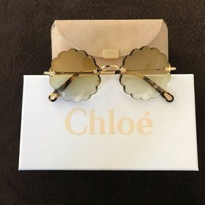 Chloe Sunglasses Round CE142S - Gold